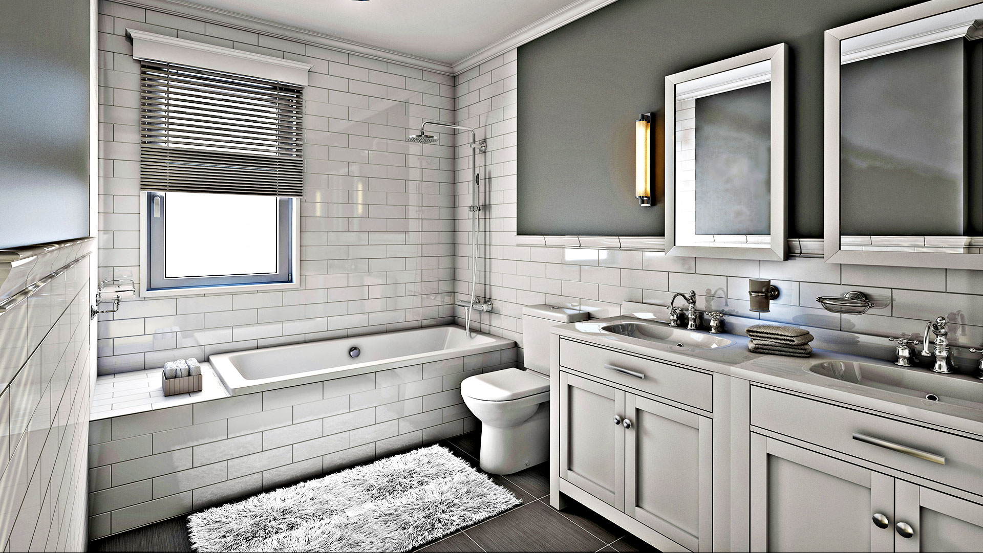 Edward A. Carpentry Corp. Remodeled Bathroom